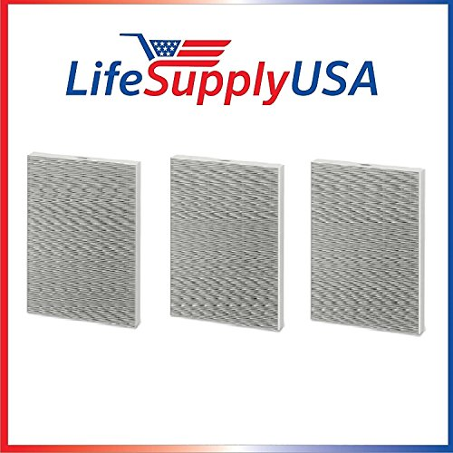 3 HEPA Air Purifier Filters for Winix 115115 / PlasmaWave, Size 21 - By LifeSupplyUSA