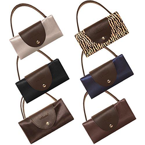 Galeja faltbare Tasche Einkaufstasche wasserabweisend stabil - Farbe Navy - Shopper - der Umwelt zu liebe Schwarz/Punkte ICa5TG82X