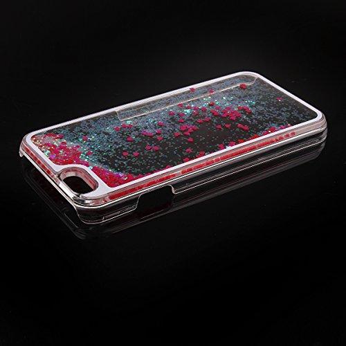"""Schutzhülle für iPhone 6 Plus, Nsstar® Hard Plastic Handyhülle Transparent Clear Cystal Case Glitter Flowing Bling Sterns und Sparkles Shinny Attraktiv Hart Hülle Etui Schale für iPhone 6 Plus 5.5"""" (R"""