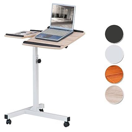 Mesa de ordenador portátil Mesa de proyección roble/blanco óptica madera - LT