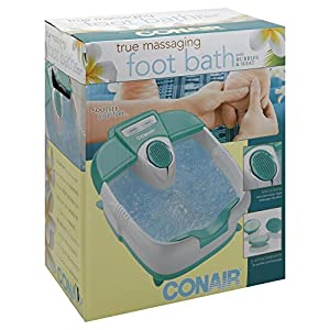 Conair True Foot Spa Bath Massager with Bubbles and Heat