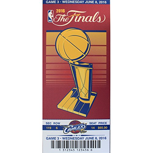 Official 2016 NBA Finals Champions Cleveland Cavaliers Basketball Ticket Replica by That's My Ticket