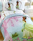 Disney Princess Tiana And The Frog Comforter W/tote Girl`s Bedding Twin Or Full