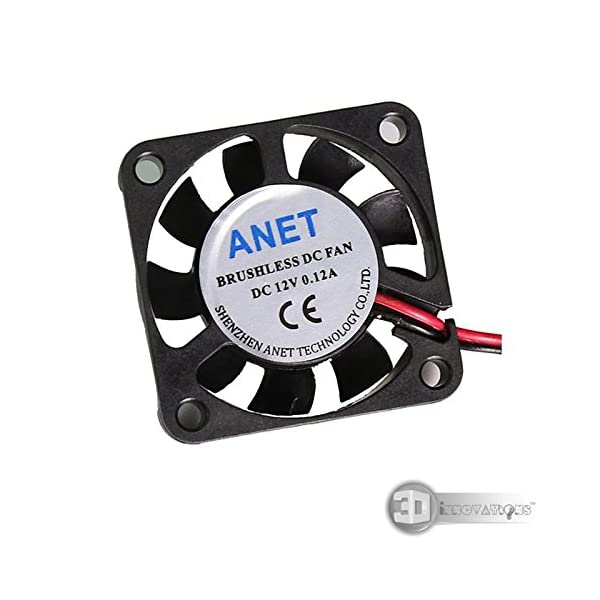 3D Innovations CHPSS508_4 3D Printer Extruder/Hotend Cooling Fan 40X40X10 mm, 0. 12A, Cable 1 Meter Long with Xh2. 54 White Connector (12V)