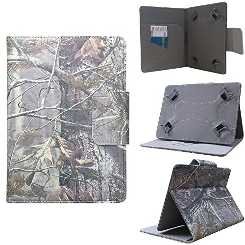 "ezCASE - Ematic Genesis Prime 8"" 8 inch Autumn Camo Universal Folio Faux Leather Protector Case Cover for 7"" inch Tablets, Multi-angle Stand, Card, Cash, Passport Slots - Fits most Tablets -  EZBazar"