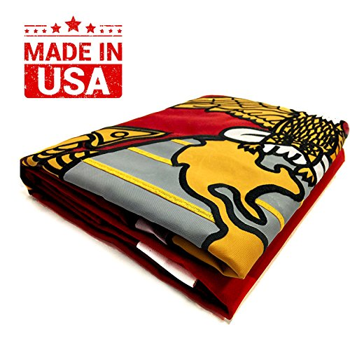 Winbee US Marine Corps Flag 3x5 Ft - Double Sided Embroidere
