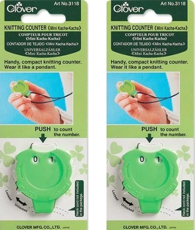 Clover Knitting Stitch Counter Mini Kacha-Kacha (2 Pack) by Clover