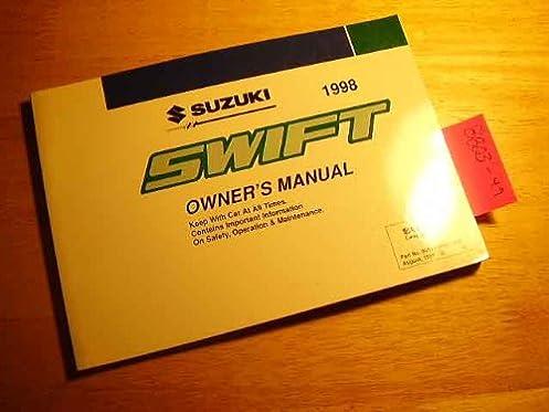 1998 suzuki swift owners manual suzuki amazon com books rh amazon com 2000 Suzuki Swift 2000 Suzuki Swift