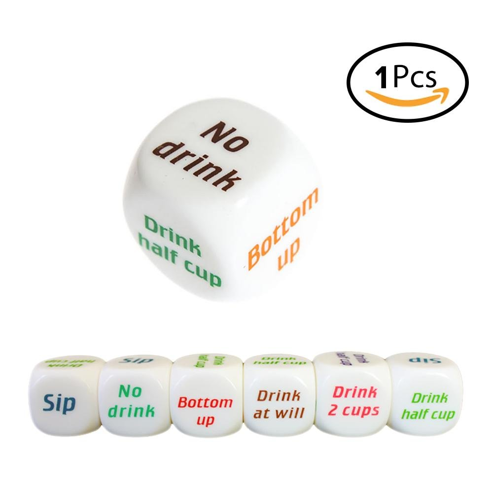 Funny Drinking Dice, niceEshp(TM) 6 Sides Colorful English Printing Drinking Gaming Dice Funny Bar Pub Party Game Supplies, Great Adult Rolling Decider Favor Toys niceeshop