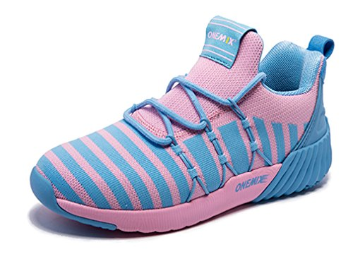 blue Jogging Sneakers Onemix City Knit Lightweight Unisex Modern Running Pink YqBR1