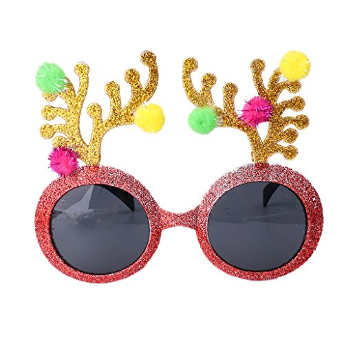 EA-STONE Halloween Christmas Glitter Eyeglasses Sunglasses for Summer Tropical Beach Party Glasses - Summer Ray Bans