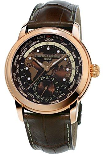 Frederique Constant Brown Dial Leather Strap Men's Watch FC-718BRWM4H4