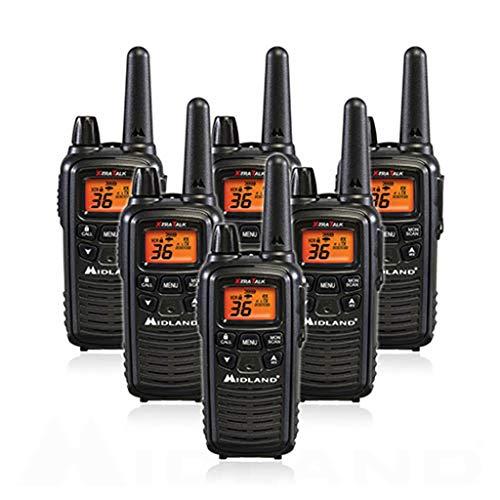 Midland LXT600VP3 36 Channel FRS Two-Way Radio - Up to 30 Mile Range Walkie Talkie - Black (Pack of ()