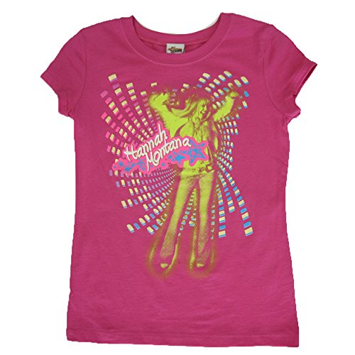Disneys Hannah Montana Fashion (Disney Big Girls Fuchsia Hannah Montana Disco Printed T-Shirt 14)