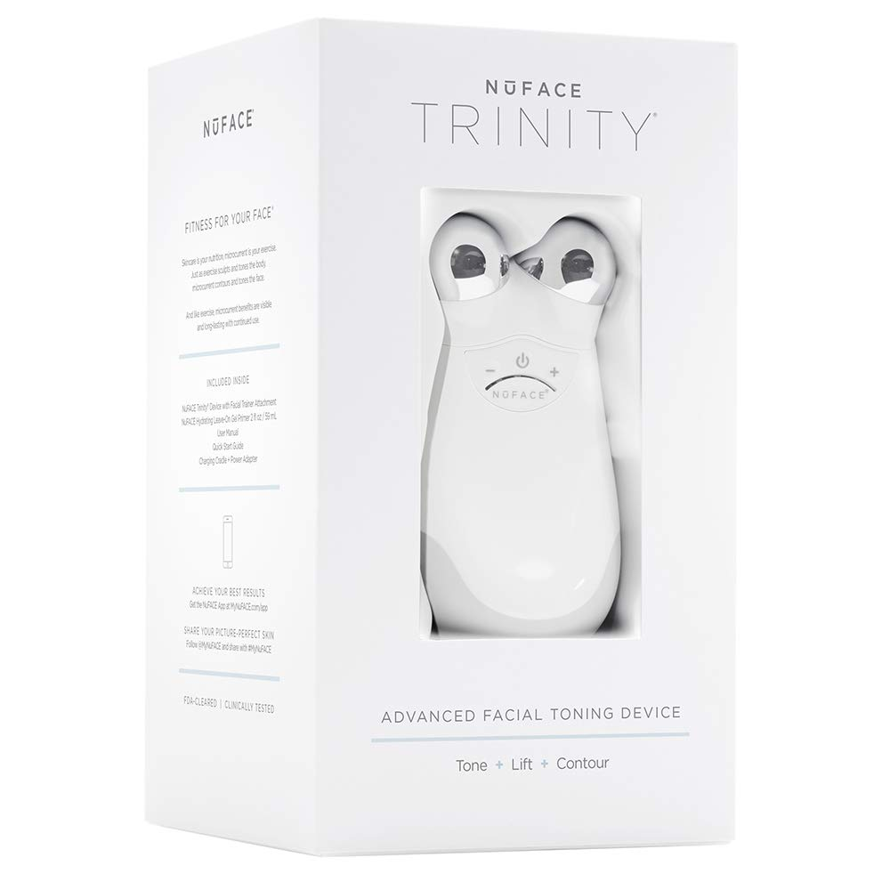 NuFACE Advanced Facial Toning Kit, Trinity Facial Trainer Device + Hydrating Leave-On Gel Primer, Skin Care Device to Lift Contour Tone Skin + Reduce Look of Wrinkles, At-Home System
