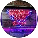 AdvpPro 2C Muscle Car Garage Hot Rod Sport Car Bar Décor Dual Color LED Neon Sign Blue & Red 12'' x 8.5'' st6s32-i3070-br
