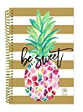 "bloom daily planners 2018 Calendar Year Daily Planner - Passion/Goal Organizer - Monthly and Weekly Datebook and Calendar - January 2018 - December 2018 - 6"" x 8.25"" - Be Sweet Pineapple"