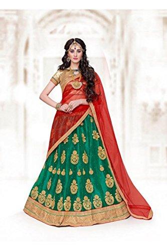 PCC Indian Women Designer Wedding Green Lehenga Choli R-16510