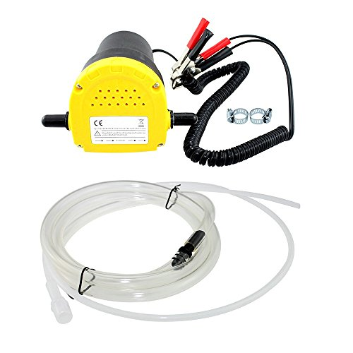 Rotary Engine Oil (Qiilu 12V 60W Oil/Diesel Fluid Sump Extractor Scavenge Exchange Transfer Pump Suction Transfer Pump + Tubes for Auto Car Boat Motorbike Truck RV ATV Jet)