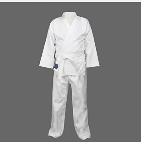 7ca537b1c Buy Adult karate uniform suit Taekwondo kick boxing training clothes dobok  cotton Online at Low Prices in India - Amazon.in