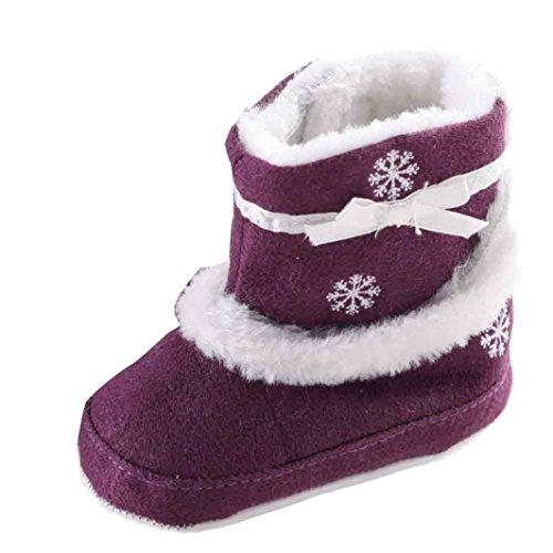 f93c99343 Tefamore zapatos bebe de antideslizante de sole suave de moda invierno de  calentar Morado