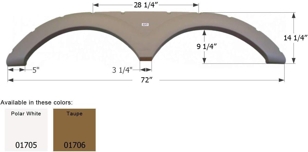 Polar White Icon 01705 Keystone 5th Wheel Travel Trailer Fender Skirt FS1705