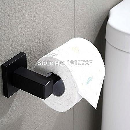 Cheap Price 5 Year Warranty High Quality Wholesale Promotion Premium Matte Black Bath Tissue Hook Brass Bathroom Rolling Paper Holder Bathroom Hardware