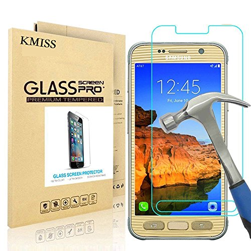Samsung Galaxy S7 Active Screen Protector, KMISS [Tempered Glass] with [0.3mm Ultra Thin 9H Hardness 2.5D Round Edge] Lifetime Replacement Warranty (for Galaxy S7 Active)