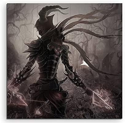 Diablo 3 Artwork Lienzo en 60 x 60 cm. Fabricado en Alemania ...