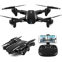 [Aurora Mini Drone] Mini Q39W Foldable With Wifi FPV HD Camera 2.4G 6-Axis Quadcopter (Black)
