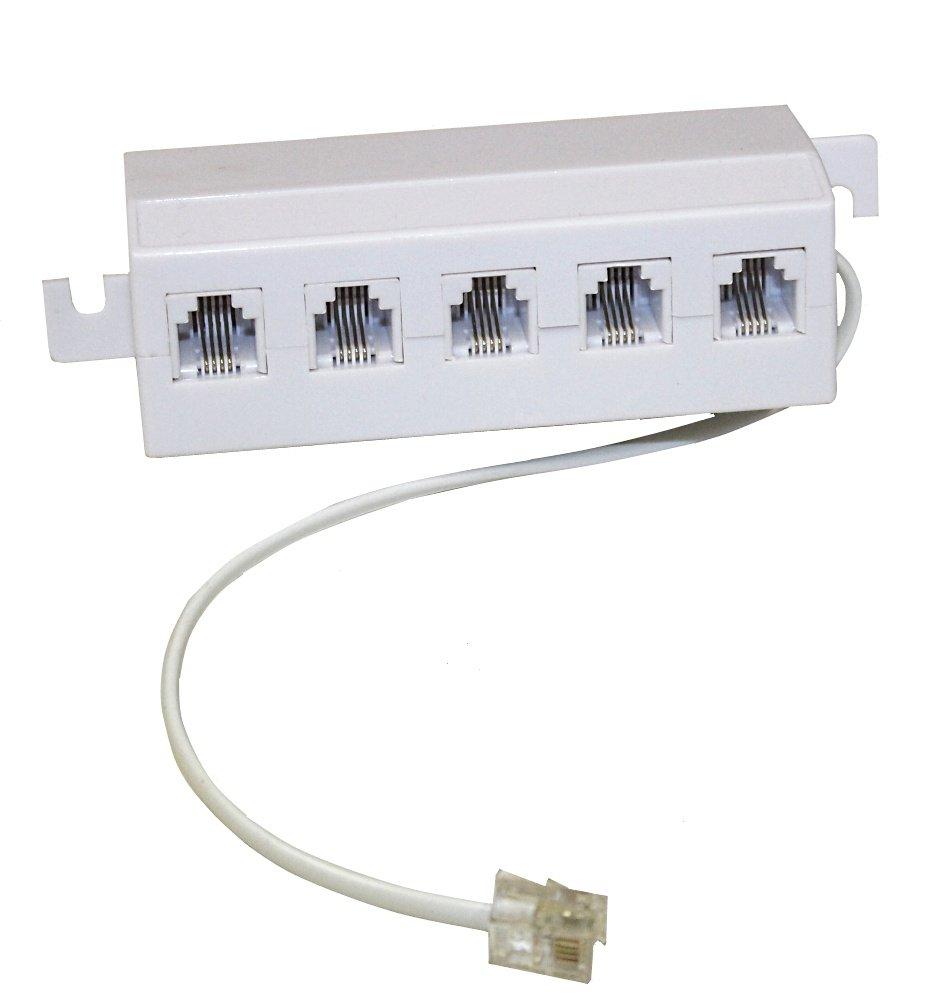 AERZETIX: Divisor telefó nico de 5 enchufes para RJ11 se cablegrafí a para Mó dem ADSL Internet Telé fono 3800946249559