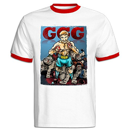 Kexiaos Men's Gennady Golovkin GGG Boxing Tshirts M Red