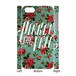 Custom Cover Case with Hard Shell Protection for Iphone 4,4S 3D case with Pierce the veil lxa#7114250