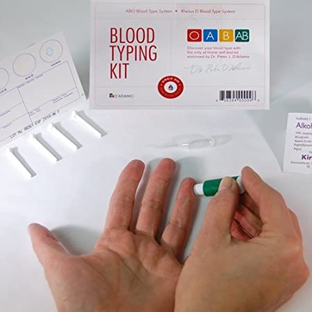 Amazon Com Blood Type Kit Also Includes 1 Eldoncard 1 Lancet Gauze Alcohol Wipe Micropipette Health Personal Care