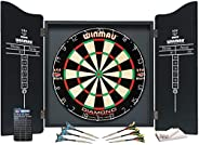 WINMAU Darts Professional Set - Complete Cabinet, Board and Darts by Winmau
