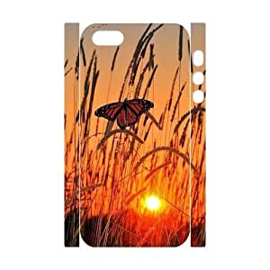 Butterfly in Glowing Sunset DIY 3D Case for Iphone 5,5S, 3D Custom Butterfly in Glowing Sunset Case