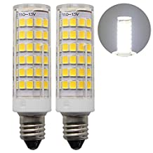 Rowrun E11 LED 5 Watts Corn Light Bulb, Energy-Saving Bulb, Dimmable, 76/pcs Leds, 500LM, Cold White(6000K), Pack of 2