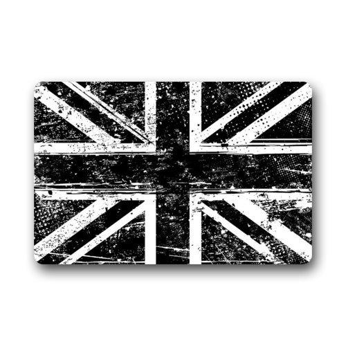 Black and White British Flag Non-slip Doormat,The Union ...