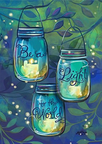 Be A Light Spring House Flag Inspirational Candles 28