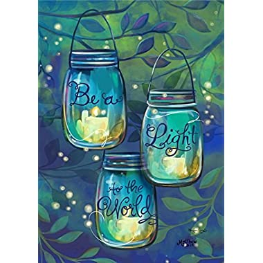 Be A Light Garden Flag Inspirational Candles 12.5  x 18