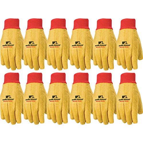 Wells Lamont Polyester and Cotton Chore Gloves, Standard Weight, Extra Large, 12-pack - Jersey Lamont Wells Glove