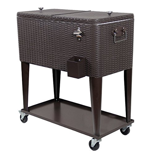 Clevr Outdoor Cooler Rolling Wicker product image