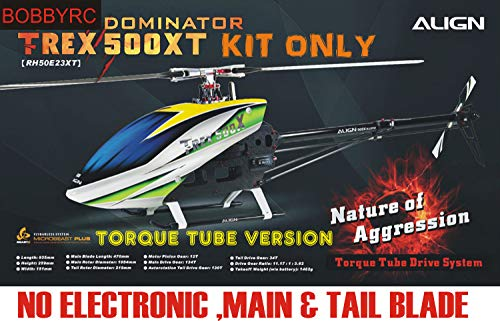 Align Trex 500 XT Dominator 500 Sized Electric (Torque Tube Version) Helicopter Align 500 Torque Tube