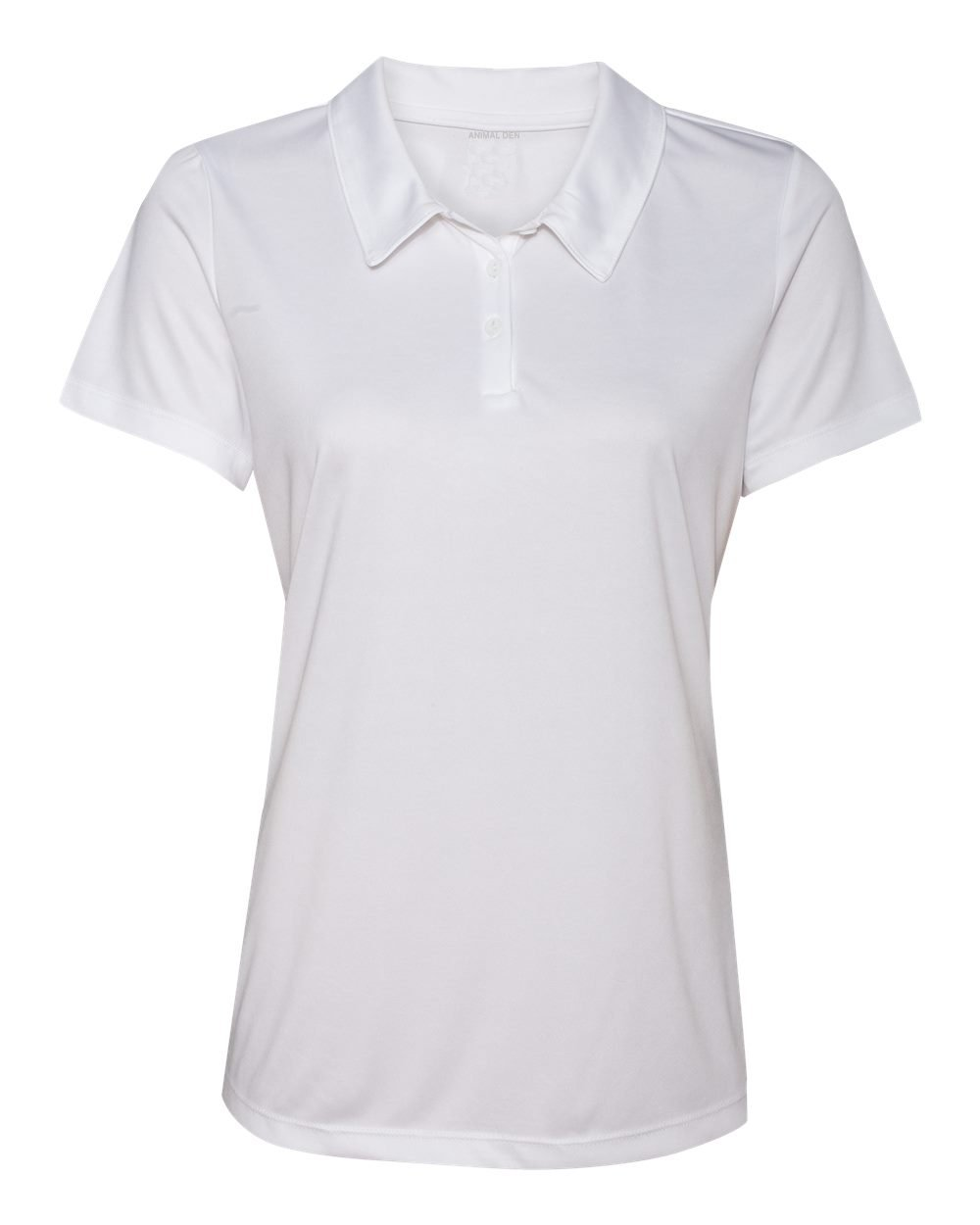 Women's Dry-Fit Golf Polo Shirts 3-Button Golf Polo's in 20 Colors XS-3XL Shirt WHITE-3XL by Animal Den