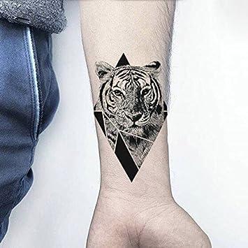 Oottati Tatuajes Temporales Triángulo Tigre (2 hojas): Amazon.es ...