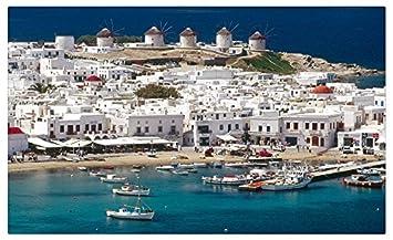 Karte Griechenland Mykonos.Mykonos Griechenland Reise Webseiten Postkarte Karte Amazon De