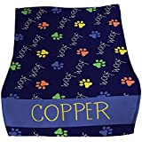 GiftsForYouNow Woof Woof Personalized Pet Throw Blanket, Blue