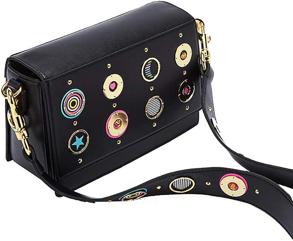 DelleVEGA Small Purse fashion Satchel for Women Leather Cover Hasp Crossbody Bag and Saddle Shoulder Bag