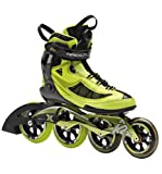 K2 Skate Men's Radical X Boa Racing Inline Skates, Lime/Black, 8