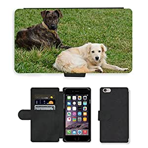 "GoGoMobile PU LEATHER case coque housse smartphone Flip bag Cover protection // M00123279 Perro Animales domésticos Animales // Apple iPhone 6 PLUS 5.5"""